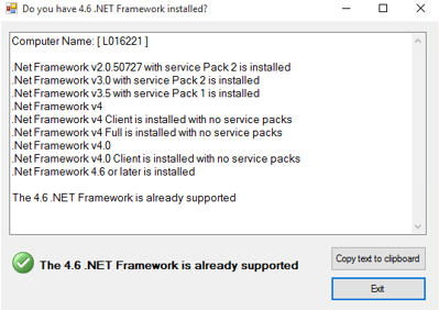 Please Click Here To Download The .NET4.6 Installer