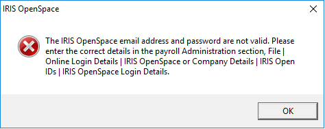 12079: Error editing company details: The IRIS OpenSpace email