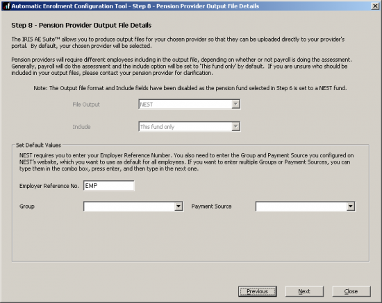Peion Format | 12052 Ae Config Tool Step 8 Pension Provider Output File Details
