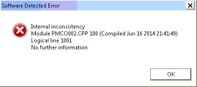 internal, inconsistency, software detected error, module, logical