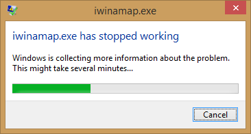 IWINXXXX.EXE has stopped working when Launching the OpenSpace Link