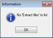 No Extract Files to List