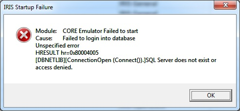 SQL Server Does Not Exist Or Access Denied; 0x80004005