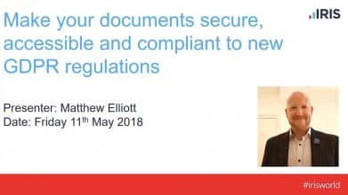 Make your documents secure, accessible and compliant to new GDPR regulations