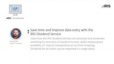Save time and improve data entry with IRIS Dividend Service