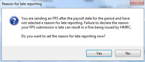 Reason for late reporting - IRIS
