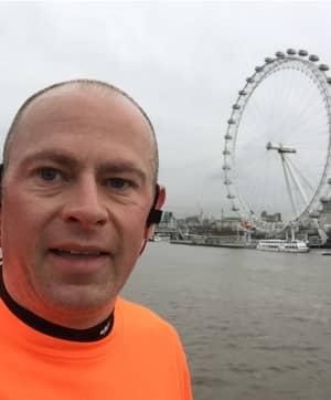 Simon on training run