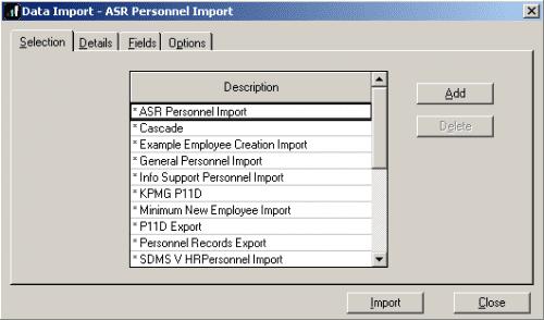 Importing/Exporting Data from payroll - IRIS