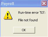 Run time error 53 Run-time file not found