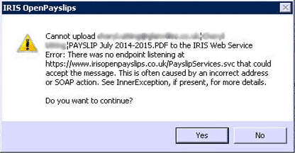 """https://www.iris.co.uk/assets/Uploads/SME-Support/Support-Images/Non-Product-Images/OP-SOAP-1.png"""" alt=""""Cannot upload to IRIS web service. Error: There was no endpoint listening at https://www.irisopenenrol.co.uk/payslipservices.svc that could accept the message. This is often caused by an incorrect address or SOAP action. See InnerException, if present, for more details"""