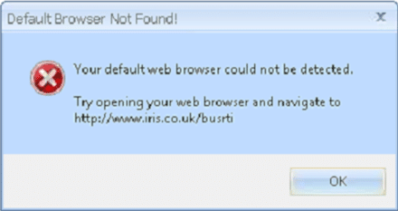 Default browser not found your default web browser could not be detected try opening your web browser and navigate to